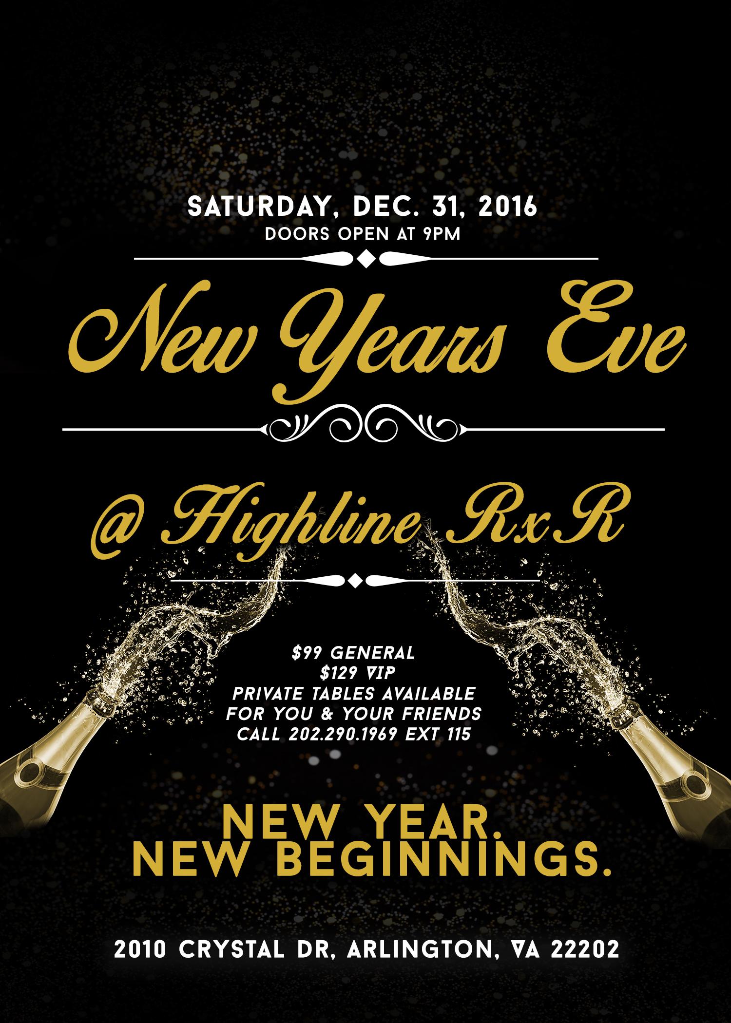 NYE Party 2017 @ Highline RxR