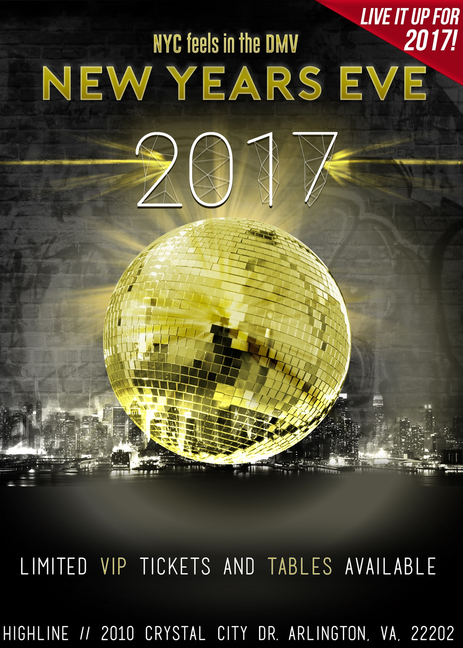 NYE Party 2017 @ Highline RxR