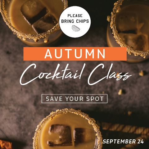 Fall cocktail class ad