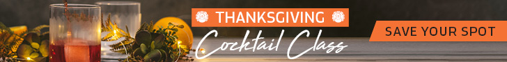 Thanksgiving Cocktail Class Header Ad